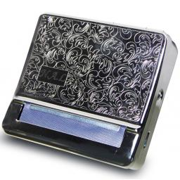 Personalised Steel Tobacco Tin And Cigarette Roller