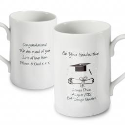 Personalised On Your Graduation China Mug
