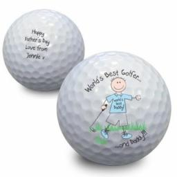Personalised Worlds Best Golfer Golf Ball