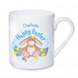 Personalised Happy Easter Bunny Mug