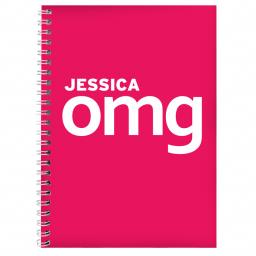 Personalised OMG Slogan A5 Notebook