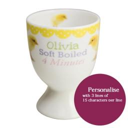 Personalised Fluffy Chick Egg Cup