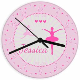 Personalised Ballerina Glass Clock