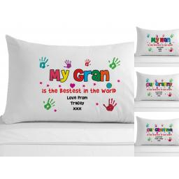 Personalised Pillowcase My / Our Gran Granny Grandma Nan Nanna