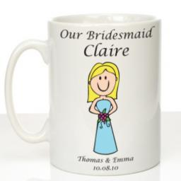 Personalised Wedding Mug Bridesmaid