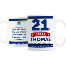Personalised Birthday Stars Ceramic Mug