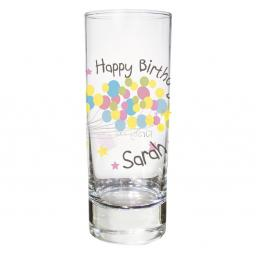 Personalised Balloon Themed Shot Glass