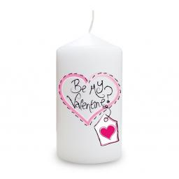 Heart Stitch Be My Valentine Candle