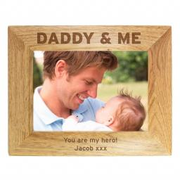 Personalised 5x7 Wooden Frame Daddy & Me