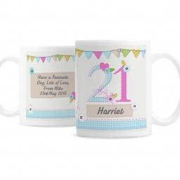 Personalised Birthday Craft Ceramic Mug