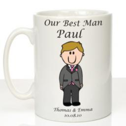 Personalised Wedding Mug Best Man