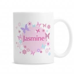 Personalised Pink Butterfly Mug