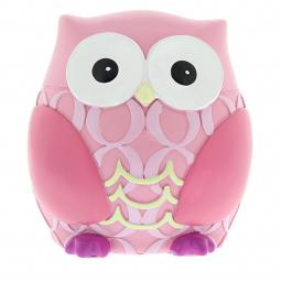 Personalised Pink Owl Moneybox