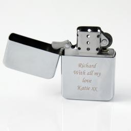Personalised Lighter Silver Chrome