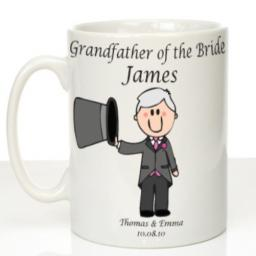 Personalised Wedding Mug Grandfather of the Bride