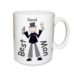 Personalised Cartoon Male Wedding Mug