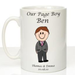 Personalised Wedding Mug Page Boy