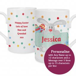Personalised Easter Bunny Spotty Mug