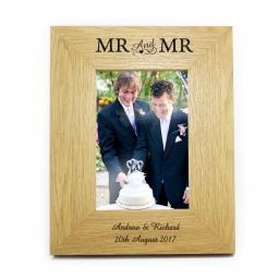Personalised 6x4 Mr & Mr Wooden Frame