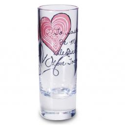 Personalised Red Love Heart Shot Glass