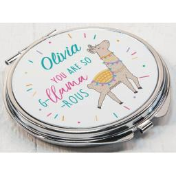 Personalised G-Llama-rous Compact Mirror