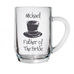 Personalised Top Hat Wedding Pint Tankard Male Role