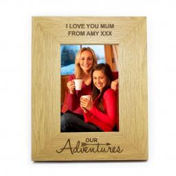 Personalised 6x4 Our Adventures Wooden Frame