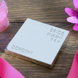 Personalised Square Compact Mirror Wedding Party Role