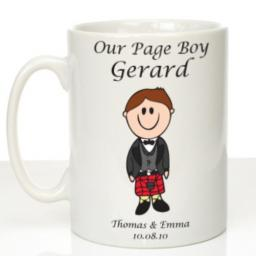 Personalised Wedding Mug Page Boy Scottish