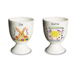 Personalised Egg Cup Bone China Choice of Bunny or Chick