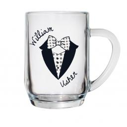 Personalised Dotty Pint Tankard Male Role