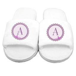 Personalised Womens Butterfly Velour Slippers Open Toe