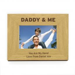 Personalised 4x6 Daddy & Me Wooden Frame