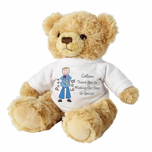 Personalised Message Teddy Bear Page Boy