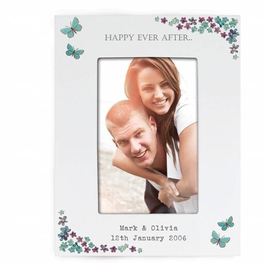 Personalised Forget Me Not 6 x 4 Photo Frame