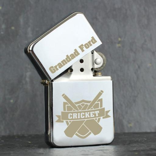 Personalised Lighter Cricket Add Name
