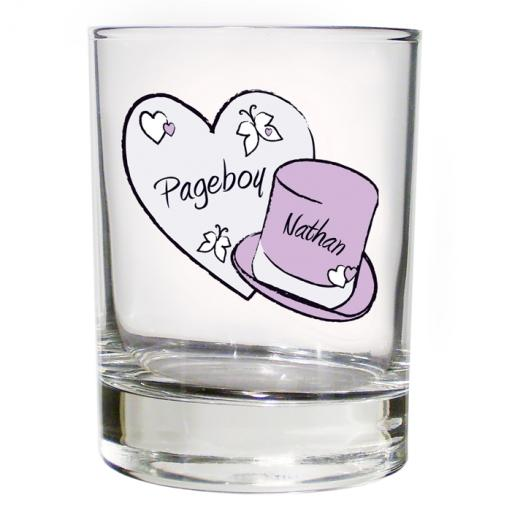 Personalised Heart & Top Hat Wedding Juice Glass Male Role