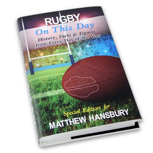Personalised Rugby On This Day Book
