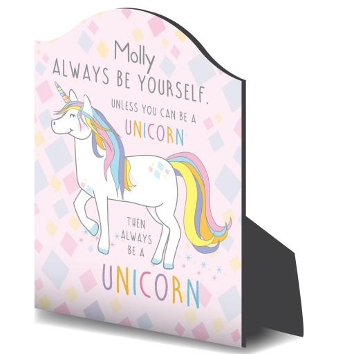 Personalised Always Be A Unicorn Plaque
