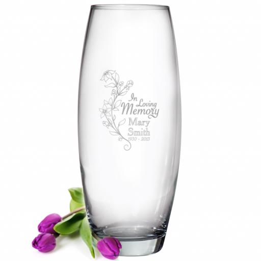 Personalised IN LOVING MEMORY Glass Bullet Vase