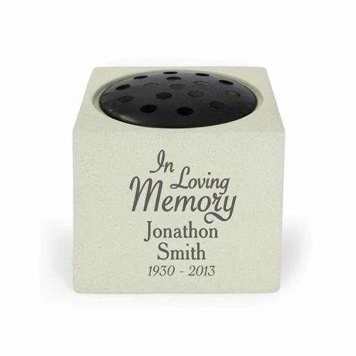Personalised In Loving Memory Memorial Rose Bowl Vase