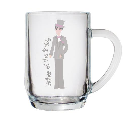 Fabulous Pint Tankard Glass Father of the Bride