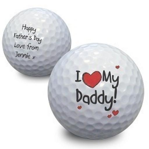 Personalised Golf Ball I Heart My .......... Add Any Name / Role