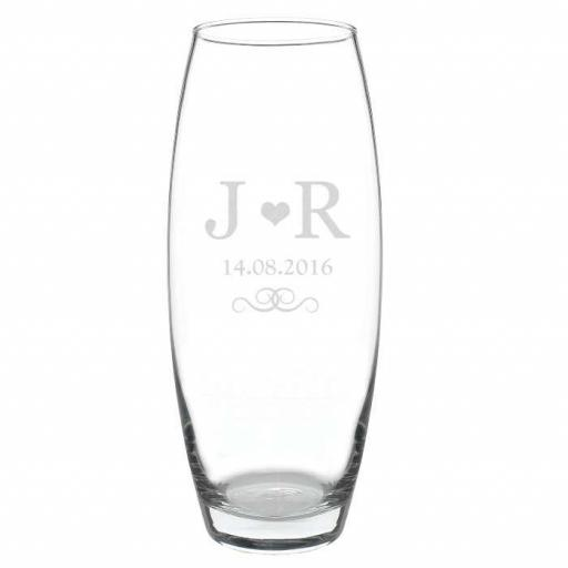 Personalised Monogram Glass Bullet Vase
