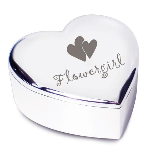 Flowergirl Heart Trinket Box Heart Motif
