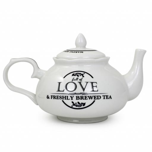 Personalised ' Full of Love ' Teapot