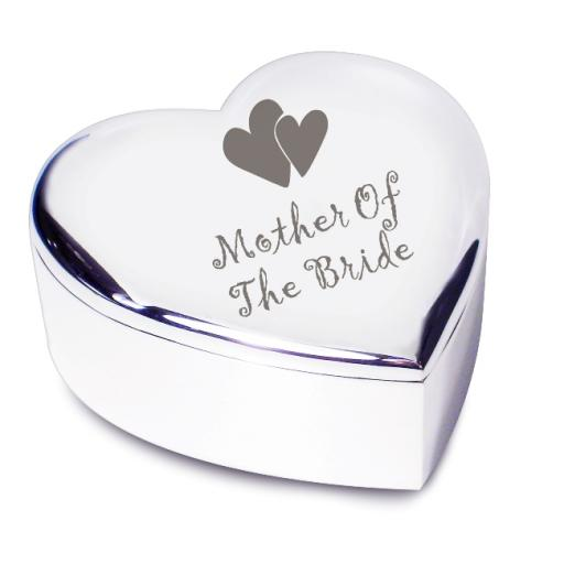 Mother of the Bride Heart Trinket Box Heart Motif