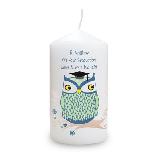 Personalised Mr Owl Candle