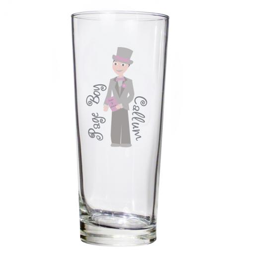 Personalised Fabulous Pilsner Glass Younger Male Role