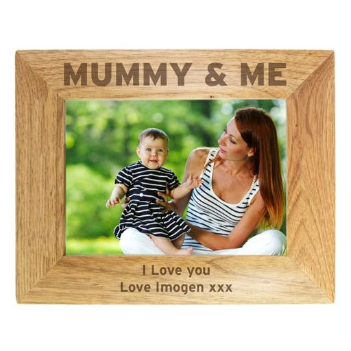 Personalised 5x7 Wooden Frame Mummy & Me